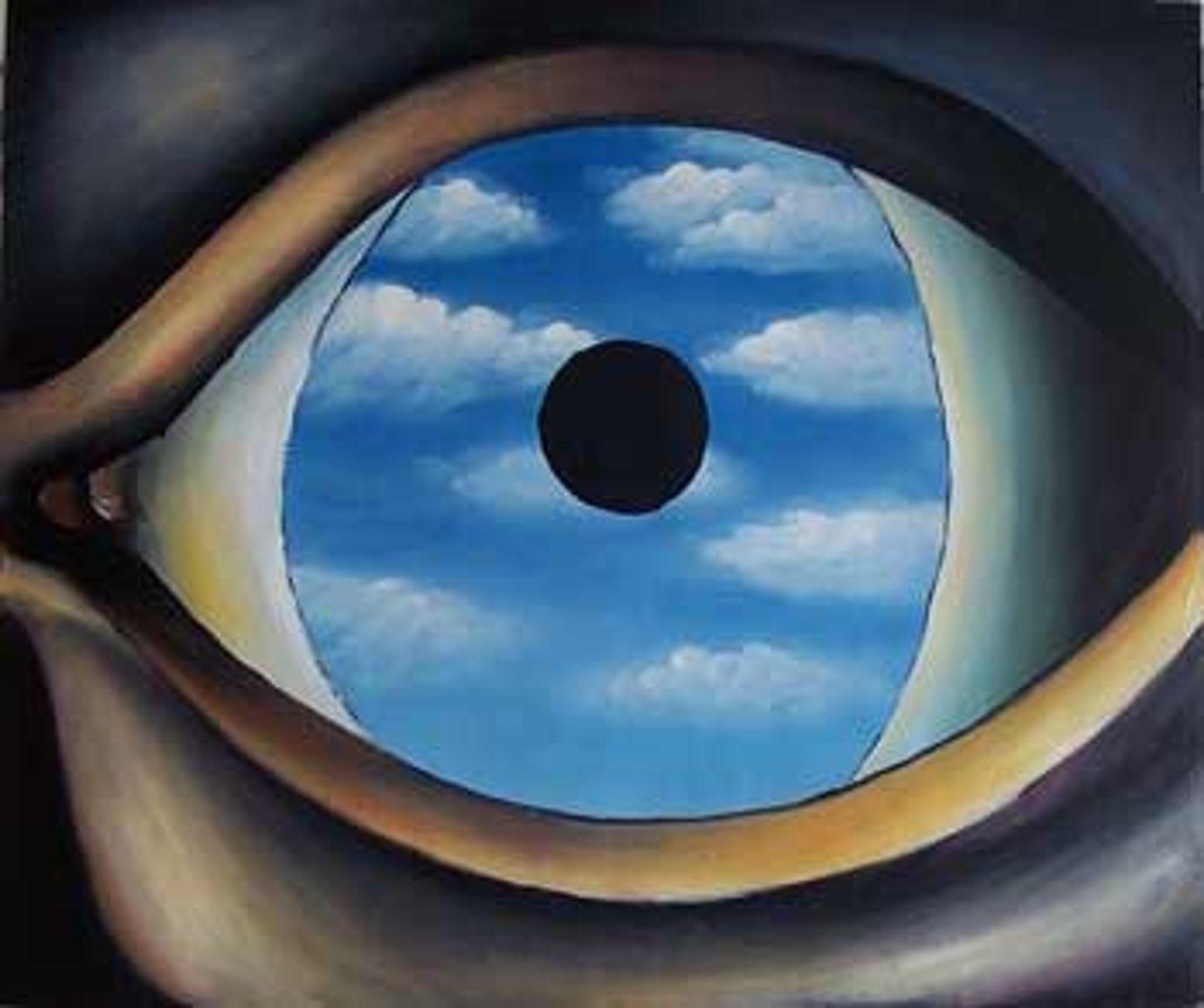 Il Falso Specchio.Quadro Il Falso Specchio Di Magritte Falso D Autore 50x60cm Personaggi E Scene Di Vita