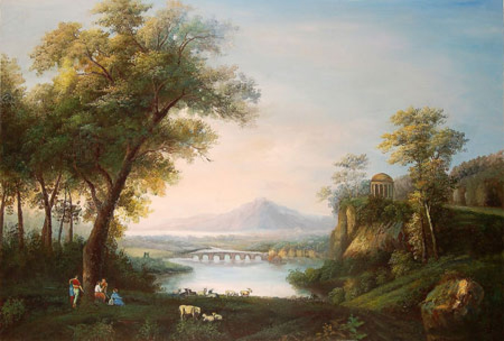 Hackert jacob philipp landscape with river