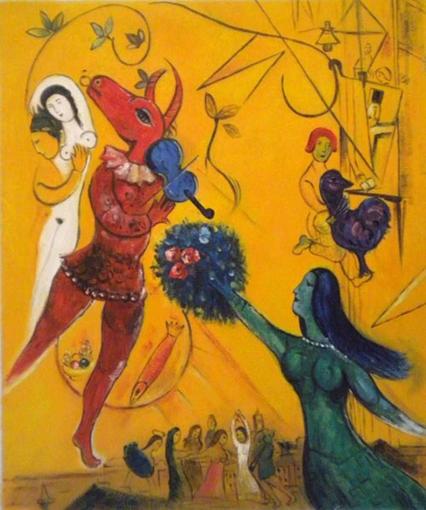 Quadro la danza di Chagall, falso d\'autore 60x50cm Novecento