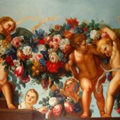 cupids and flowers