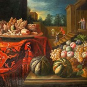 Still life with fruits and sweets