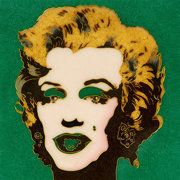 WARHOL  Marylin su Verde scuro