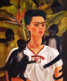 Self portrait with monkeys