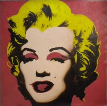 Marilyn Red 90x90 cm