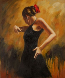 Ballerina di flamenco in nero