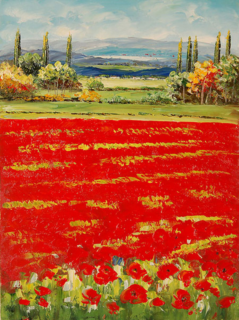 Quadro Paesaggio Di Campagna Di Impressionisti Falso D Autore