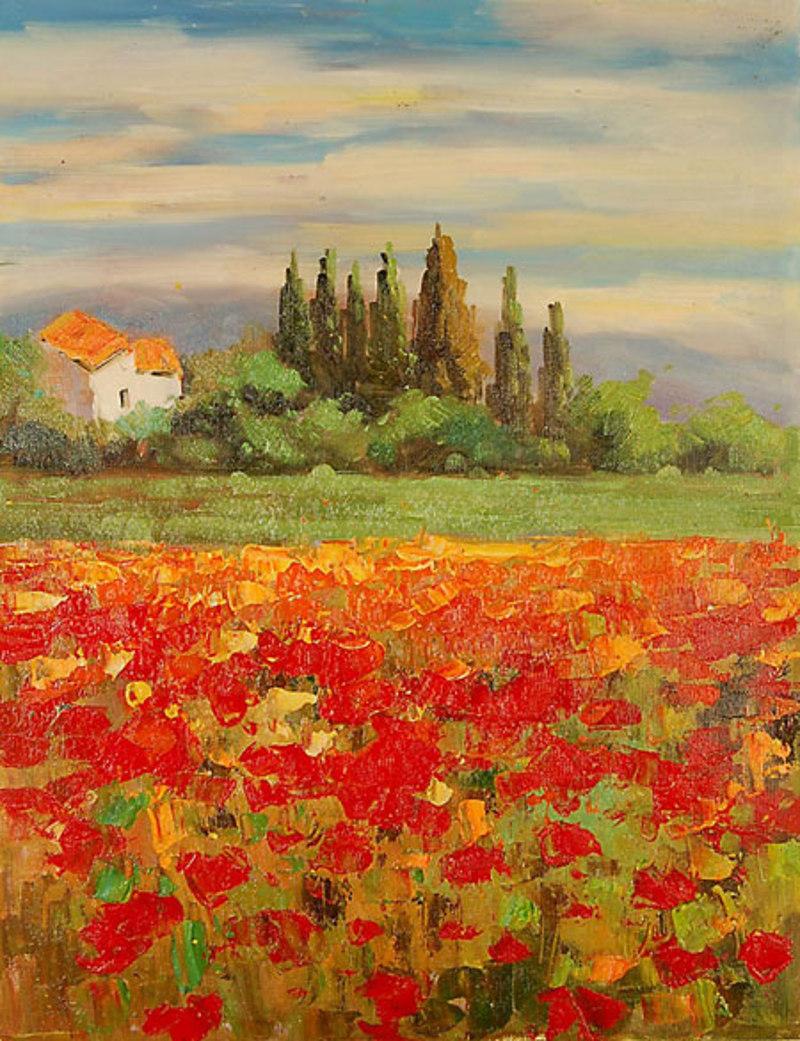 Quadro Paesaggio di campagna di Impressionisti, falso d\'autore ...