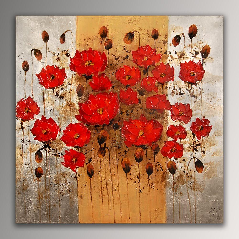 falso di autore Papaveri rossi di Edgar Ramirez in vendita.