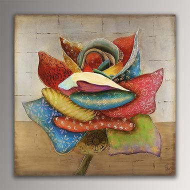 fiore Moderno con telaio estetico (AM von , Gemälde Reproduktion von .