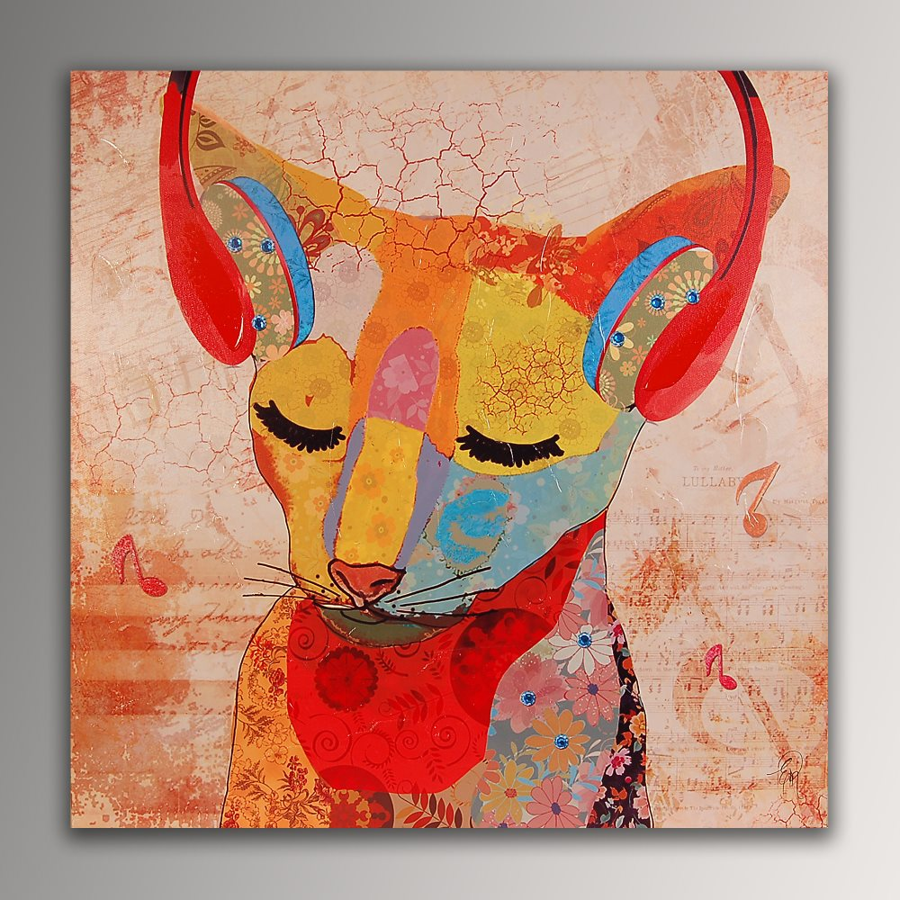 falso di autore Gatto Abissino Pop Art di Edgar Ramirez in vendita.