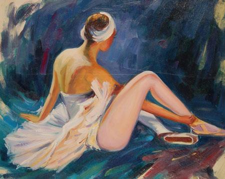 falso di autore Ballerina seduta di sconosciuto in vendita.