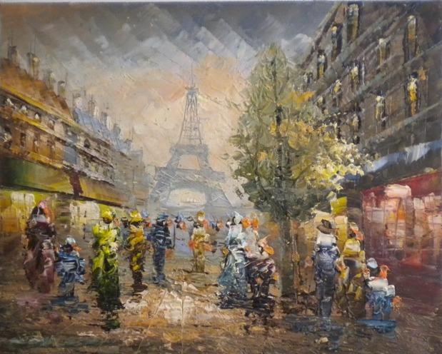 Falso di autore parigi torre eiffel x di sconosciuto in for Quadri di parigi