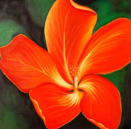 Falso di autore cattleya di fiori moderni in vendita for Immagini di fiori dipinti