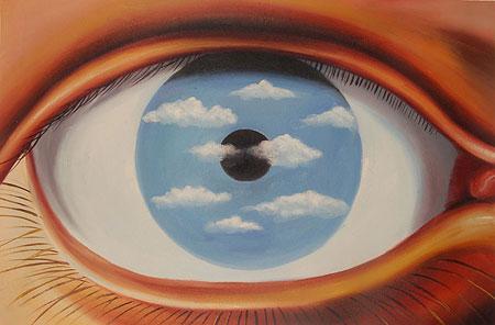 Falso di autore il falso specchio am di magritte in vendita for Magritte le faux miroir