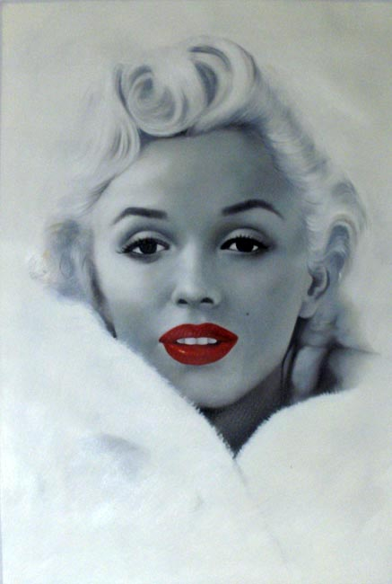 painting museal quality Marilyn Monroe - Warhol style by Warhol ...