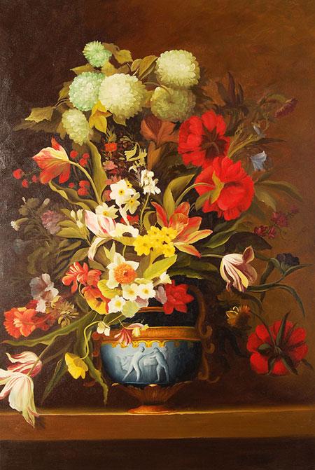 Falso di autore vaso di fiori su davanzale di sconosciuto for Vaso di fiori disegno