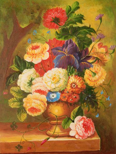 Falso di autore natura morta con fiori di sconosciuto in for Vendita cornici per quadri