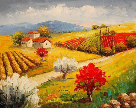 falso di autore Paesaggio di campagna di Impressionisti in vendita.