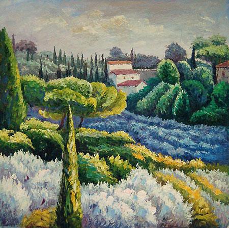 falso di autore Paesaggio toscana di Impressionisti in vendita.