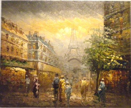 Falso di autore parigi torre eiffel v di sconosciuto in for Quadri di parigi
