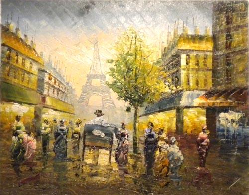 Falso di autore parigi torre eiffel vi di sconosciuto in for Quadri di parigi