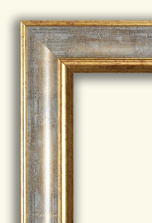 Falso di autore cornice classica rovesciata oro argento di for Vendita cornici per quadri