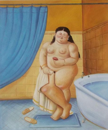 falso di autore Il bagno IV di Botero in vendita.