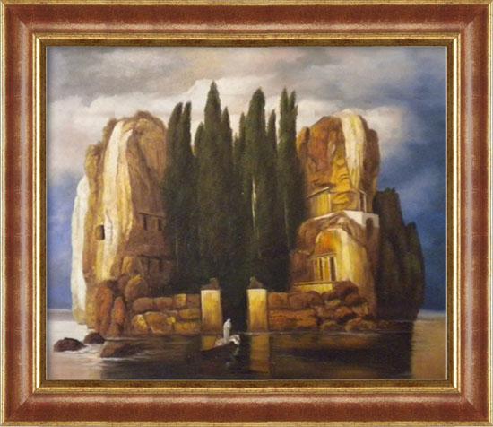 Falso di autore isola dei morti cornice classica for Vendita cornici per quadri