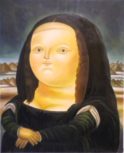 Painting Monnalisa By Botero Fake Painting Monnalisa