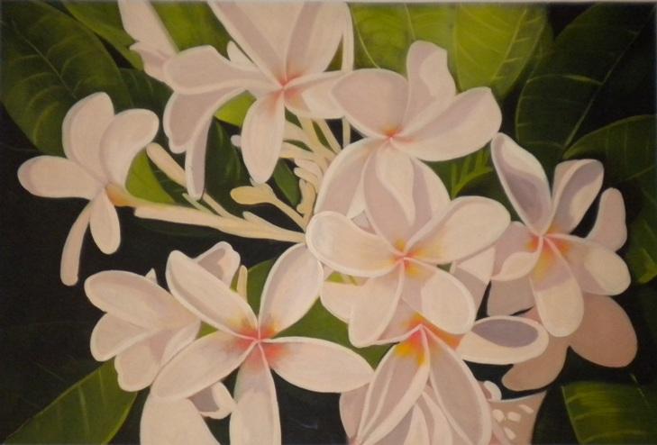 falso di autore fiori bianchi di FIORI MODERNI in vendita.