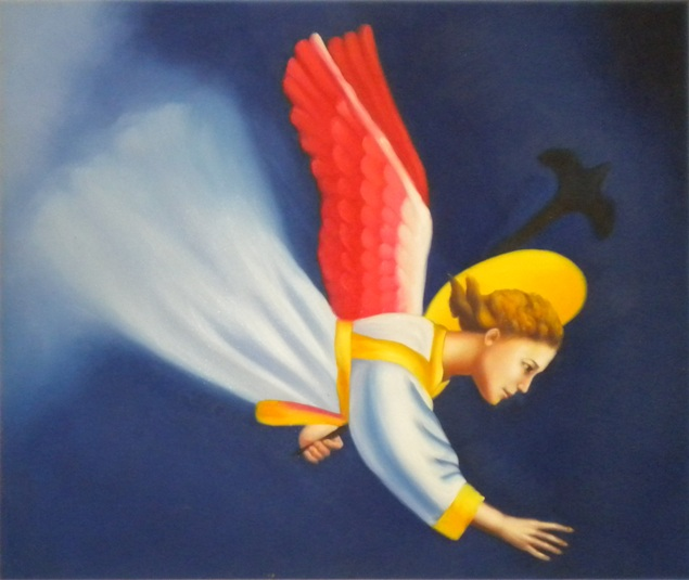 Falso di autore angelo telaio in legno standard di for Abbellimento del lotto d angolo
