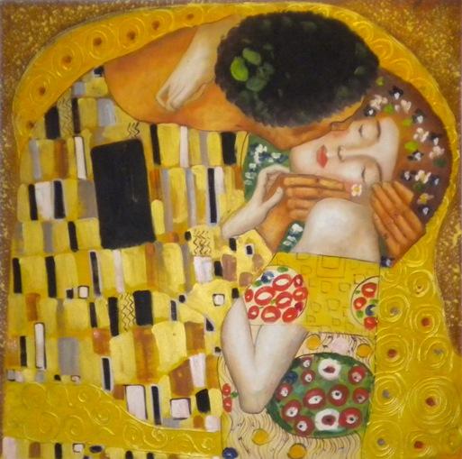 falso di autore Il bacio di Klimt in vendita.
