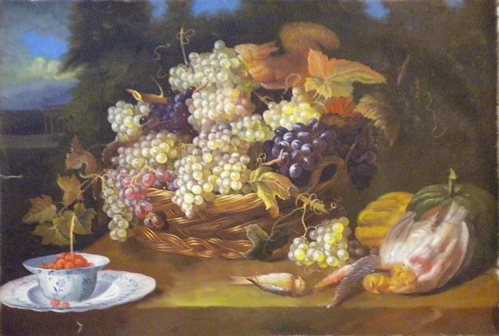 la Natura Morta (tela di lino) von , Gemälde Reproduktion von .