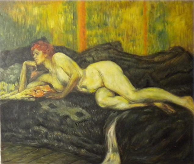 falso di autore Nudo sdraiato di Lautrec in vendita.