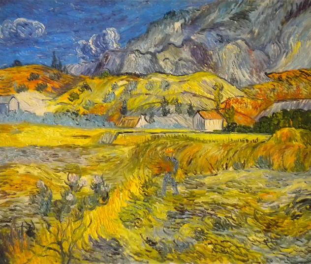 falso di autore paesaggio a Saint - Remy di Van Gogh in vendita.