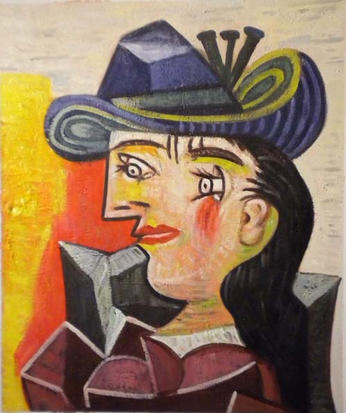 store falso d'autore Woman with blue hat di Picasso