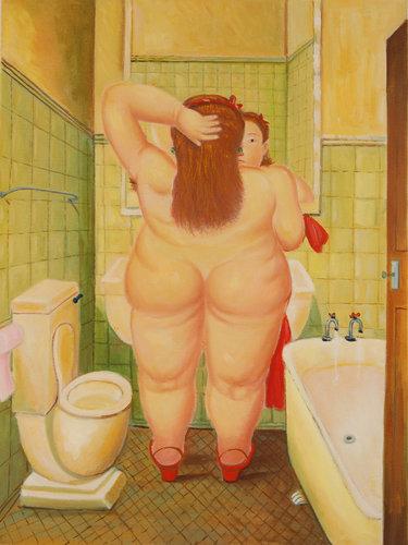falso di autore Donna al Bagno di Botero in vendita.