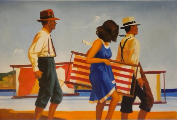 Vendita falso d'autore Sweet Bird of Youth 70x50 cm di Vettriano