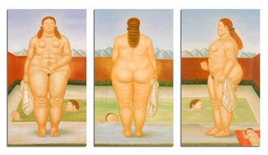 In piscina trilogia von , Gemälde Reproduktion von .