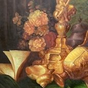 Still life with a precious vessel