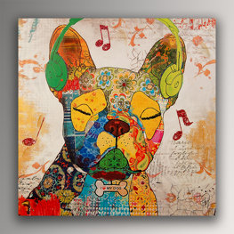 Bouledogue Francese Pop Art