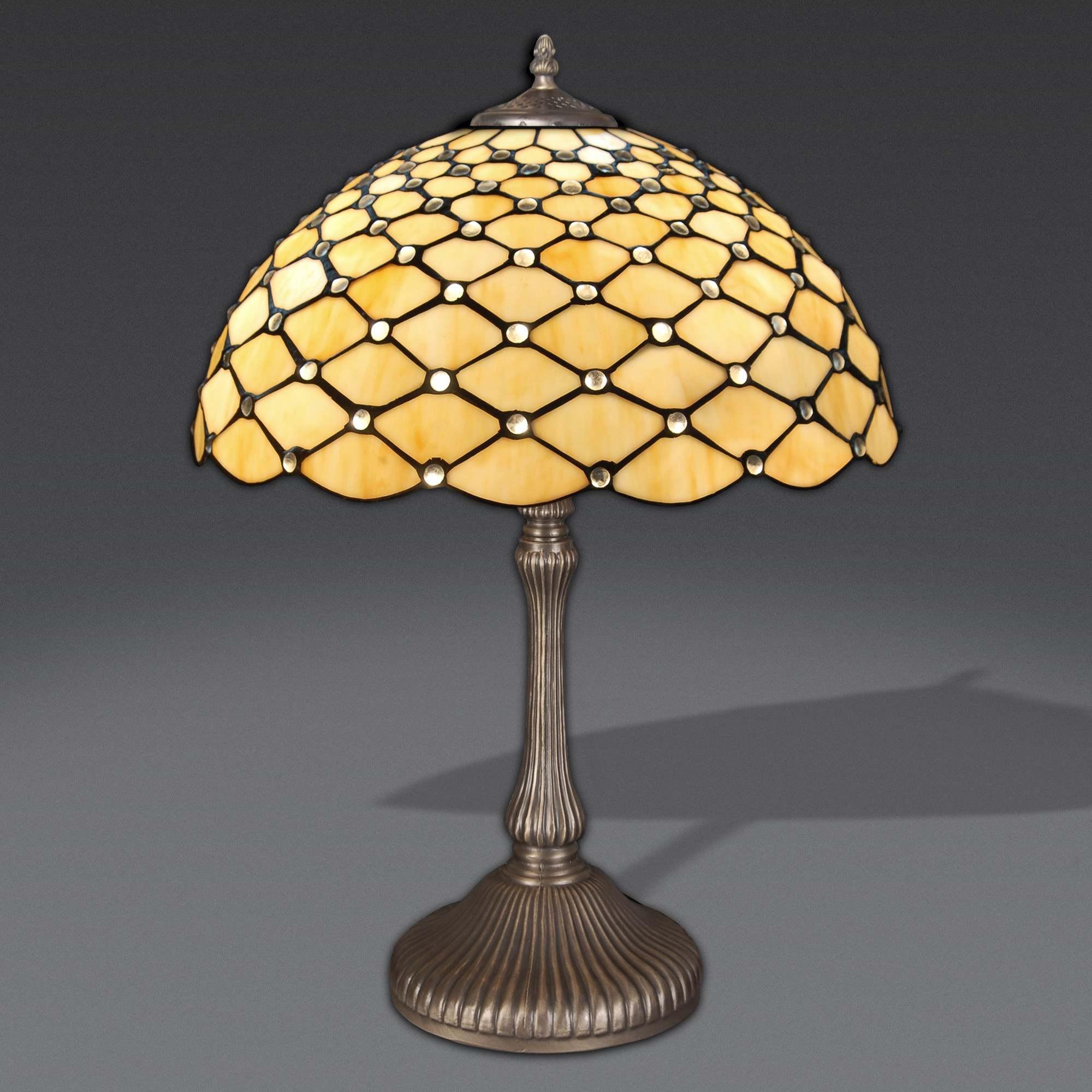 Lampada stile tiffany lampada da tavolo con gemme lampada - Lampade tiffany da tavolo ...